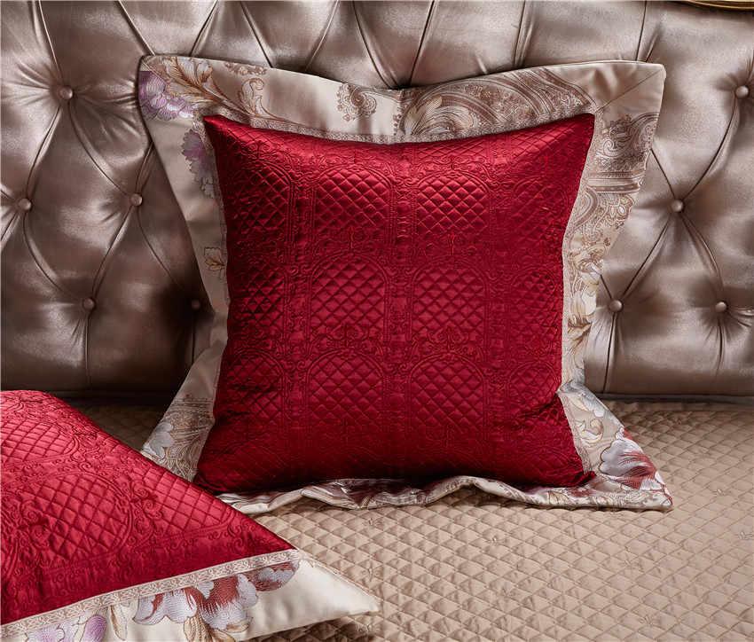 4/6/10 ピース東洋高級綿サテン王室の寝具セットクイーンキングサイズの結婚式の布団カバーベッド /フラットシートベッドスプレッドセット
