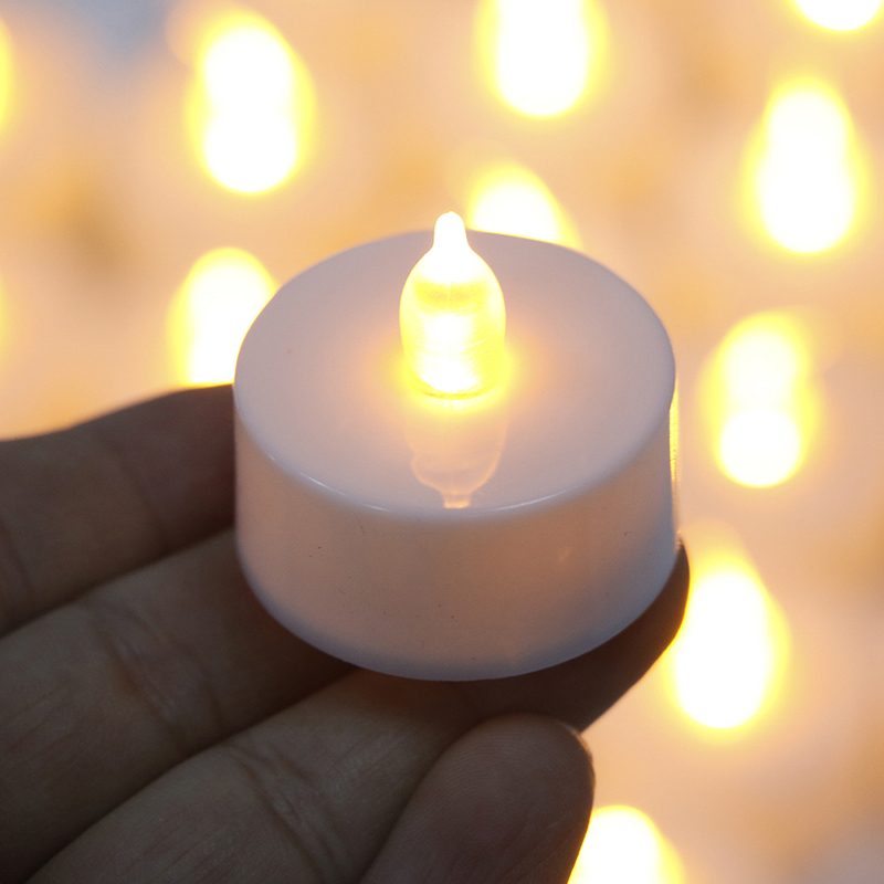 24pcs Battery Powered LED Candle Lamp Lights Simulation Color Flame Flashing Tea Light Home Wedding Festive Birthday Party Decor title=