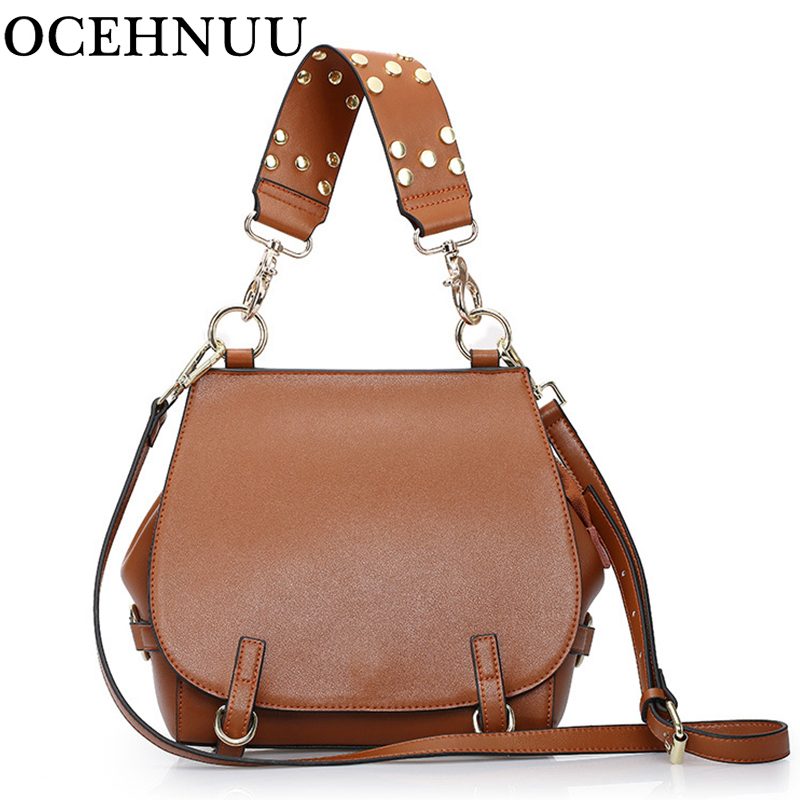 OCEHNUU New Women Bag Genuine Leather Handbags Female 2018 Luxury Brand Women Messenger Bags Crossbody Real Leather Fashion yuanyu 2018 new hot free shipping real python leather women clutch women hand caught bag women bag long snake women day clutches