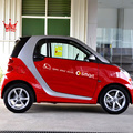 Open Your Mind Side Door Reflective Car stickers And Decals Car-styling Decoration For Mercedes Benz SMART Fortwo Accessories