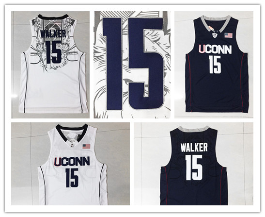 2069ccdf87ab ... huskies college jerseys black whit  wholesale mens 15 kemba walker  university jerseys adult uconn embroidery logos kemba walker jersey 1