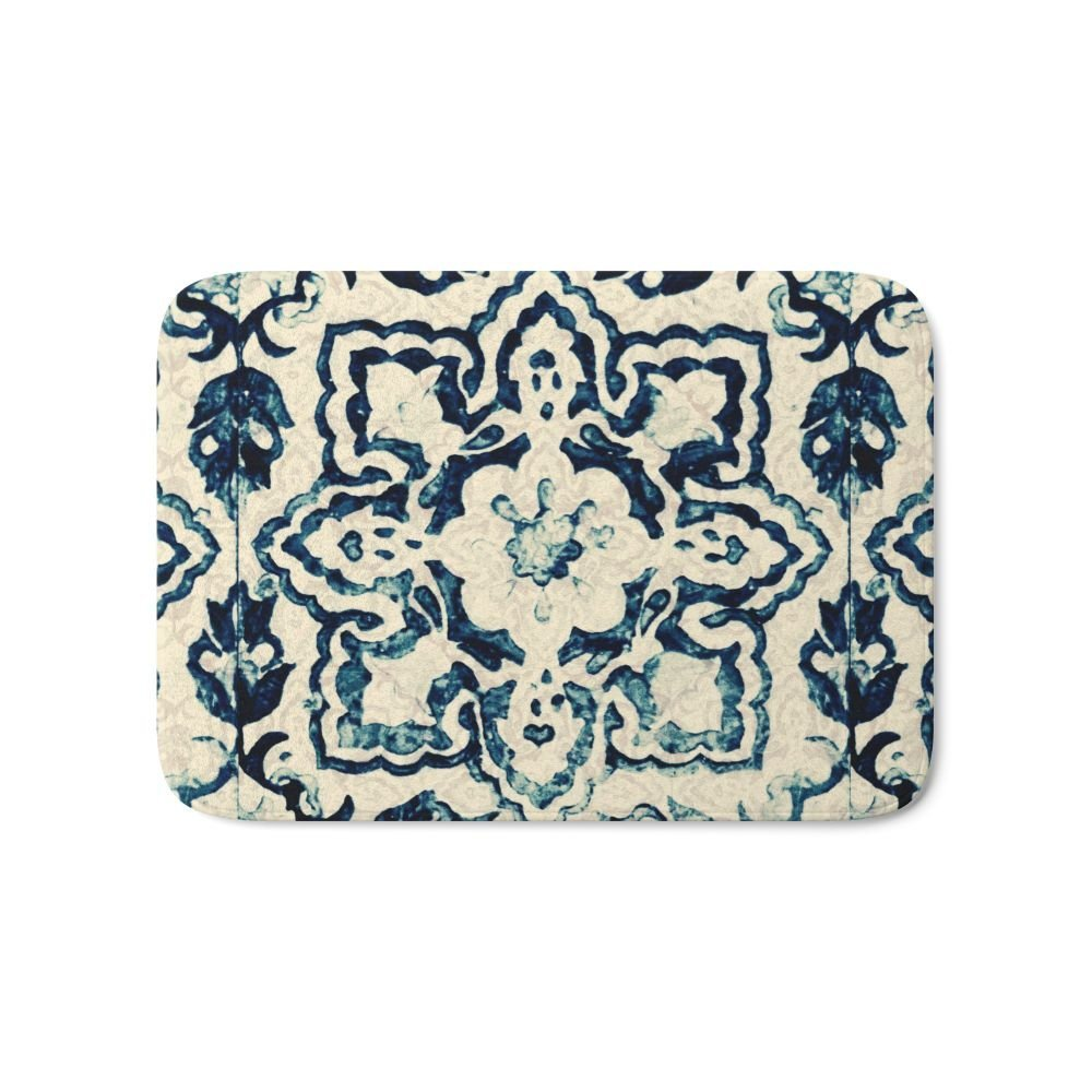 Patterned bath mat superior fireplace blower