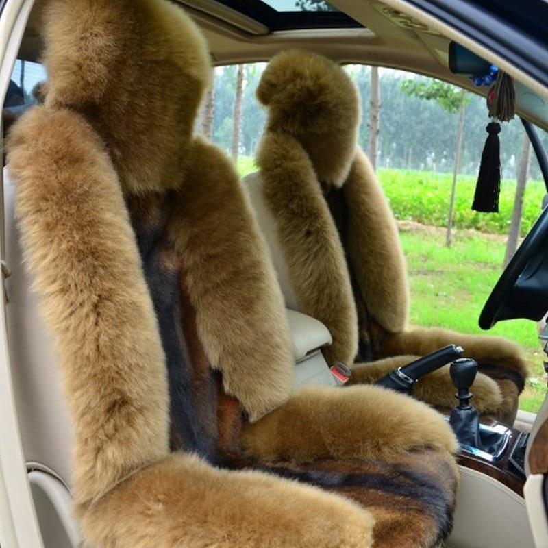 Khaki yun yastığı canavar avtomobil oturacağı yastığı yun - Avtomobil daxili aksesuarları - Fotoqrafiya 2