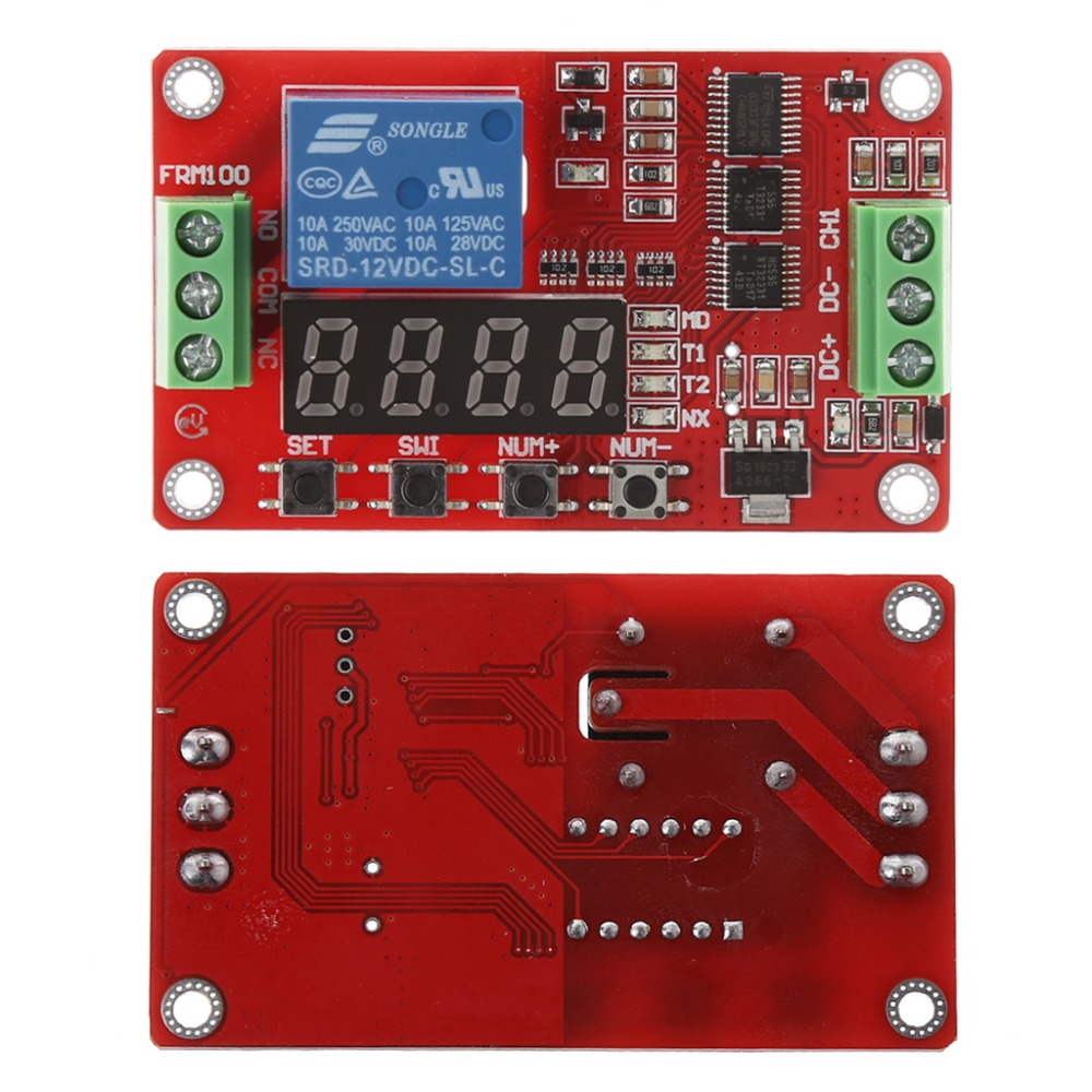 12V DC Multifunction Auto-lock Relay PLC Cycle Timer Time Delay Switch Module H02