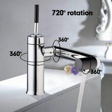 Specjalna Nowa Kuchnia Zlew Obrotowe 360 Czujnik Temperatury Chrome Deck Torneira Cozinha Mixer Tap Basin Kran 92420A/5