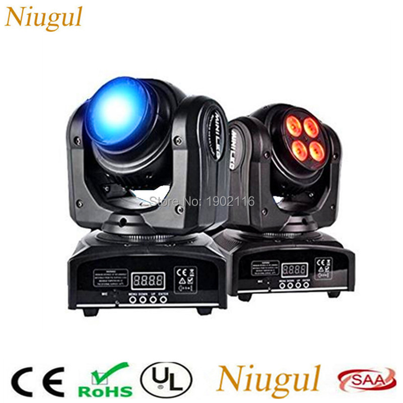 2pcs/lot DMX512 Double Sides Wash Infinite Rotating Moving Head Light LED Stage Beam effect Lamp for Indoor Disco KTV Club Party