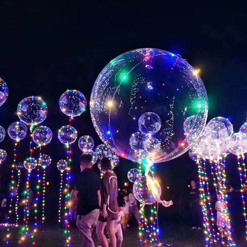 18 Inch Clear Bubble Balloon With Led Strip Copper Wire