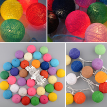 3M 20 Multicolor Led Strip Colorful Aladin Handmade Durable Cotton Ball String Light For Xmas Feast Decoration Home Decor