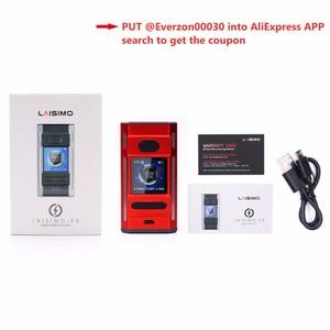 Image 5 - Laisimo Mod de cigarrillo electrónico F4 360W, caja TC Original, funciona con 2 o 4 baterías, NI200 Ti SS, rosca 510