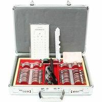104 pcs Trial Lens Set with Measuring Glasses Testing Frame Optical Lens Optometry Rim Case Evidence Box Aluminum Rim Kit