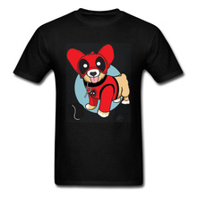 Well Chosen Deadpool Corgi T Shirt Marvel Dachshund Dog Dead Pool 100% Cotton Funny Tees Pokemon Star Wars Cartoon Tshirts