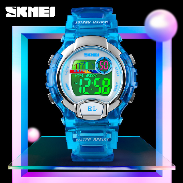 SKMEI Brand Children Watch 50M Waterproof Stopwatch Student Sports Watches For B