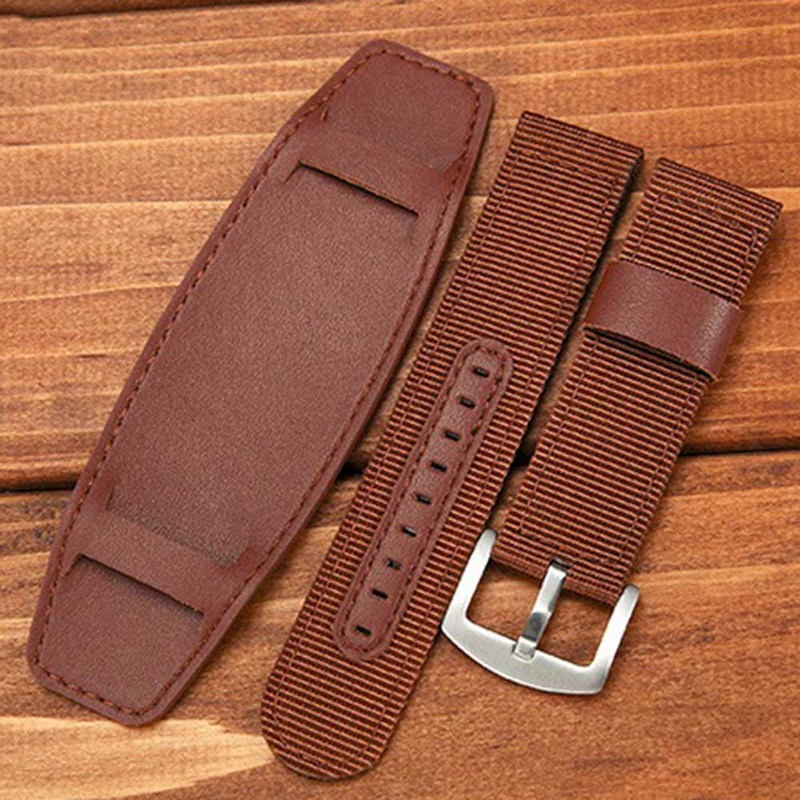 Nylon Watch Band Watchband Leather Strap 18MM 20MM 22MM 24MM Watch Accessories Stainless Steel Men Woman High Quality цена