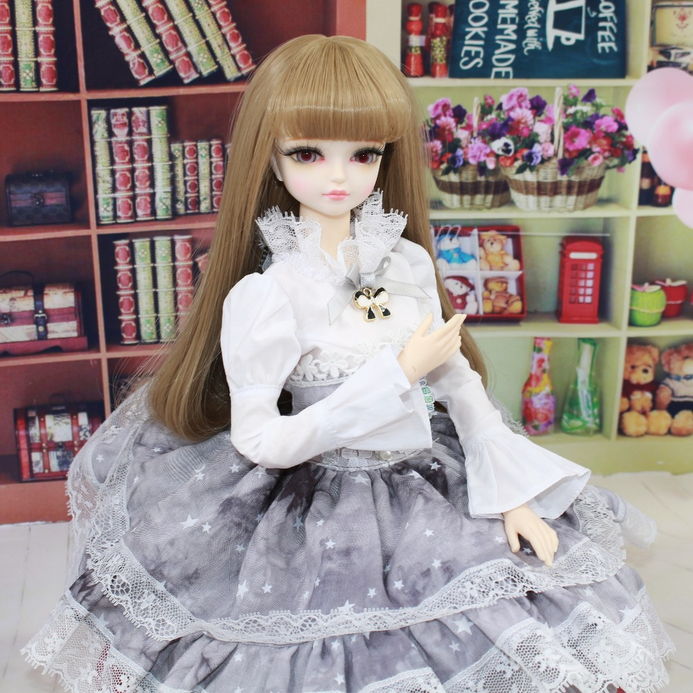 free shipping forturn days only for 1/4 bjd 45cm doll wedding dress white shirt grey skirt lady lace princess suit clothes oueneifs free shipping new floral princess dress skirt lace edge 1 8 bjd sd doll clothes have not wig or doll yf8 106 page 9