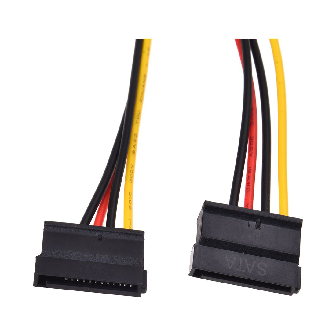LP4 to 2 SATA Internal Power Splitter Cable (SATA Power Splitter Adapter Cable 4 pin Molex 5.25 to 2 x SATA Converter) cable 18cm 2 way 4 pin psu power splitter cable lp4 molex 1 to 2 drop shipping cabo 17july18 page 2