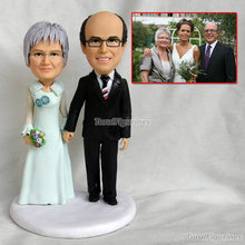 parent wedding cake topper with dog love you more bride and groom acrylic silhouette japanese figurines sculpture