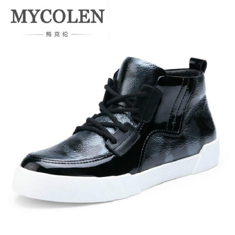 MYCOLEN Men Winter Ankle Boots Autumn Fashion Leisure Shoes Military Boots Black Gray Men Boots High Top Lace Up Leather Shoes men fashion autumn and winter men s hooded leisure sweatshirt