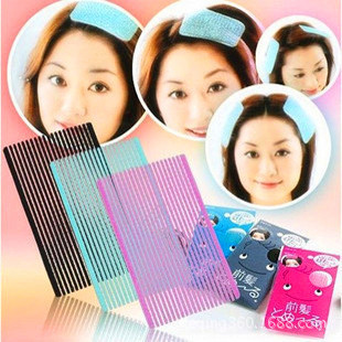 TS 20 pcs Fashion Bangs Magic Paste Posts Hair Sticker Clip Magic Tape Fringe Hair Bang Patch Stick For Women magic hair 2015 gorra unprocesseds from16 18 20 22 24 magic 100