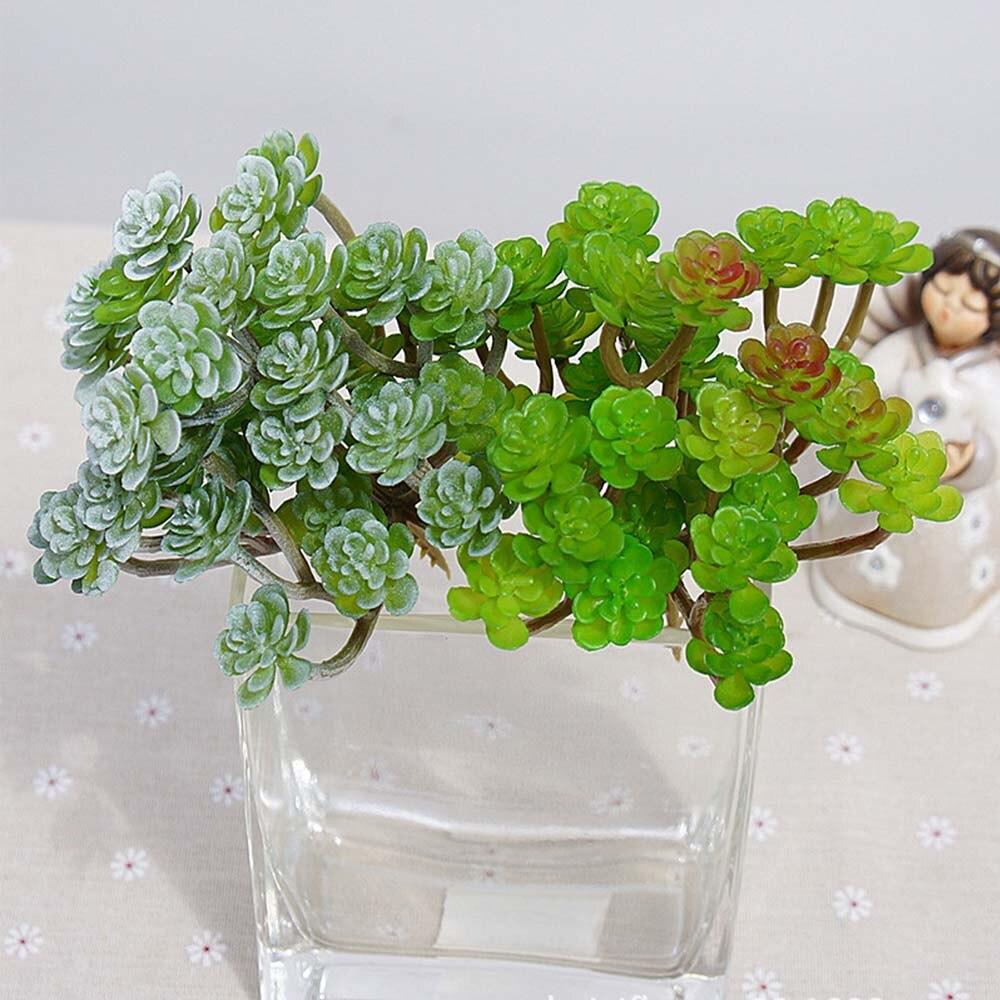 Artificial plastic flowers 34 heads Diamond Lotus succulent plants Landscape plant wall decoration silk flower for home vases