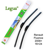 Legua Car Windscreen Wiper Blade For Renault Fluence 2009 16 24 Car Wiper Rubber Frameless Soft