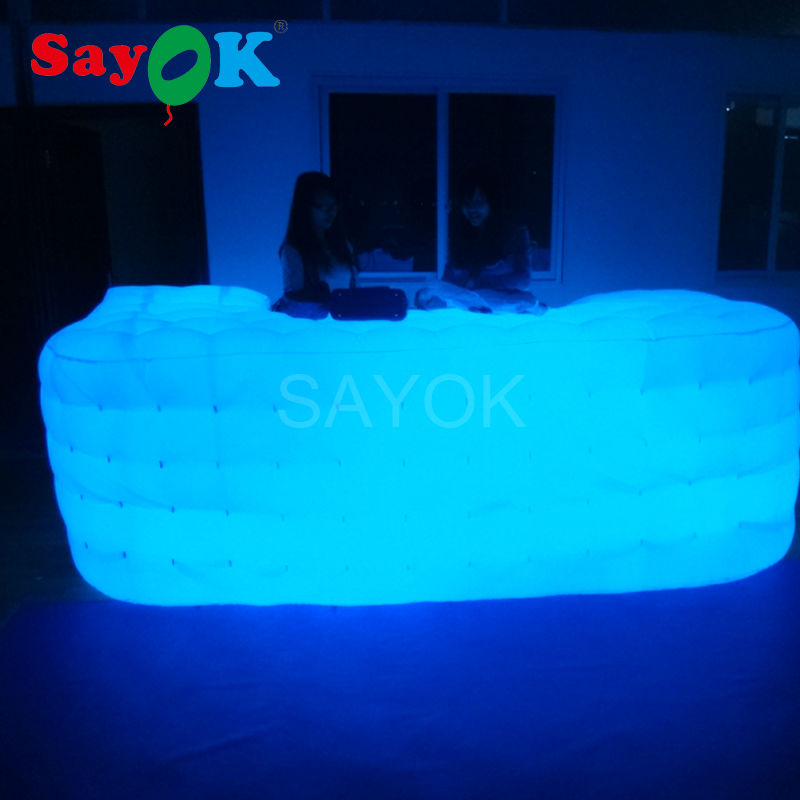 Cheap Inflatable Bar Counter/ Inflatable Service Desk Led Inflatable Bar DJ booth for Sale with Free Shipping