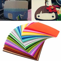 41pcs Rainbow Colorful Soft Felt Sheets DIY Craft Polyester Fabric 30x30cm For Hats Bags Decorations