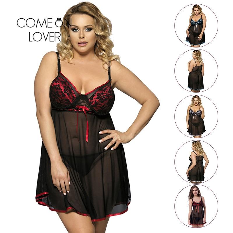 Comeonlover Sexy Lingerie Nightwear Underwear Fantasia Sexy Dress Erotic Babydoll Lingerie Sexy Plus Size Porno Lingerie RI7922