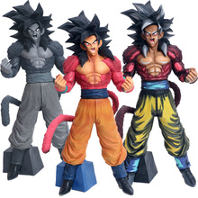 34cm Japan Anime Dragon Ball GT Collection Figure Super Saiyan 4 Goku Figurine Action Figure Toys Doll DragonBall Model Boxed japan anime dragon ball original megahouse dragon ball gals complete collection figure videl