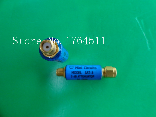 [BELLA] MINI SAT-3 DC-1.5GHz Att:3dB 2W SMA Coaxial Fixed Attenuator  --5PCS/LOT
