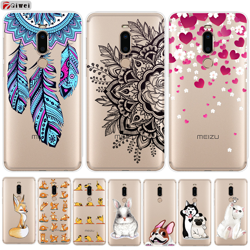 For Meizu M8 Case Transparent Clear Soft TPU Back Cover For Meizu M8 Lite Case Silicone Fundas M 8 Lite M8lite M8 Coque 5.7