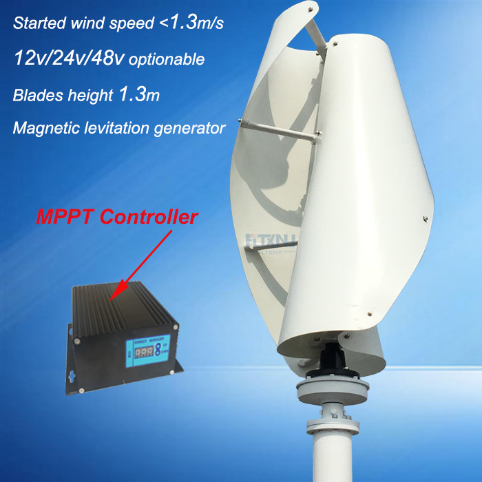 hot !! maglev wind generator 600w 12/24v vertical axis wind turbine with 600w 12v/24v AUTO wind solar hybrid controller for home wind and solar hybrid controller 600w with lcd display charge controller for 600w wind turbine and 300w solar panel 12v 24v