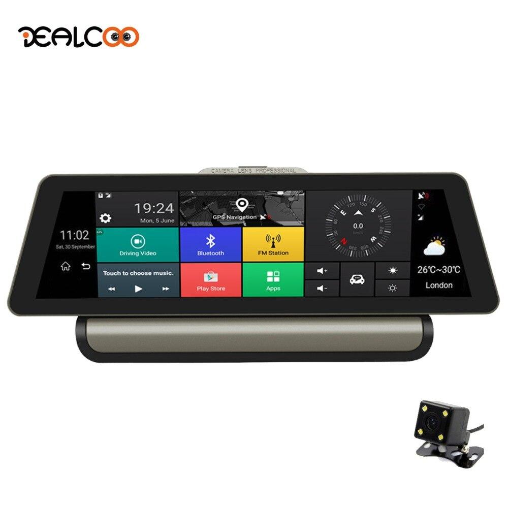 Dealcoo T8 Pro 10 Voiture DVR GPS 4g Android Voiture Caméra WIFI 1080 p FHD Enregistreur Vidéo Caméra greffier Dash Cam Parking Surveillance