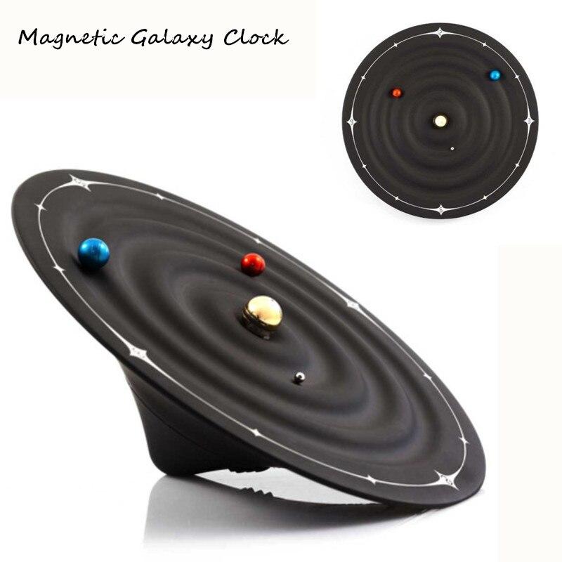 Магнитная Galaxy Orbit настольные часы творческий geek украшения машины гаджет Рождественский подарок дизайн орбитальной планеты saat стол