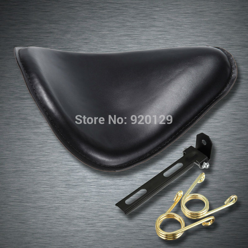 Motorcycle Black leather Bracket Softail Solo Seat for Harley Honda Yamaha Sportster Bobber
