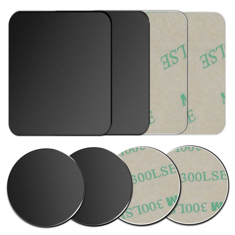 5Pcs/2pcs/1pc/lot Metal Plates With Adhensive For Magnetic Car Phone Holder Stand Replace Iron Sheet Disk For Magnet Phone Stand