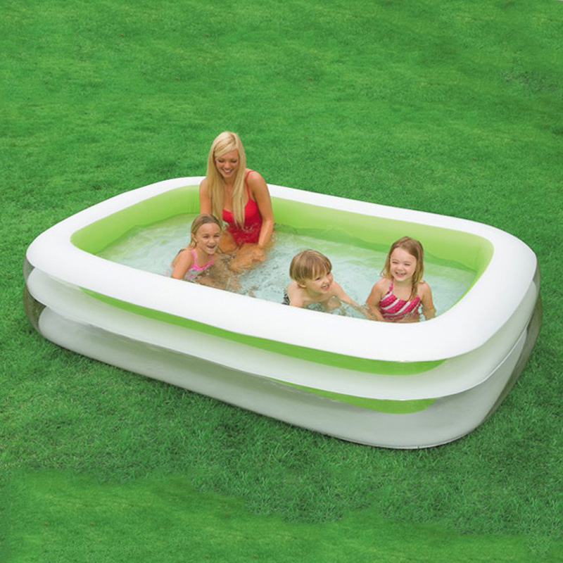 262 * 175 * 56 cm family inflatable swimming pool increased thickening inflatable pool for swimming pool children play pool A205 commercial sea inflatable blue water slide with pool and arch for kids