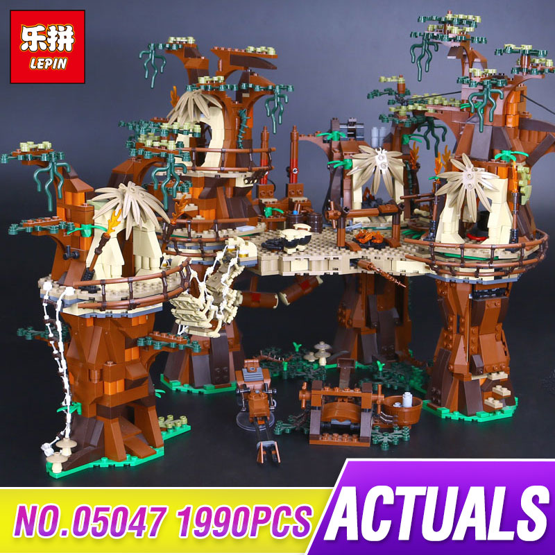 Lepin 05047 1990pcs Star E-wok Wars Village Building Blocks Bricks Educational Children Toys Compatible with 10236 Gift lepin 21012 builder the beatles yellow submarine with 21306 building blocks bricks policeman toys children educational gift toys