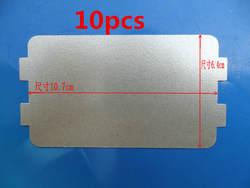 10 шт. запасные части для микроволновой печи s mica микроволновая печь 10,7*6,4 см листовая слюда для магнетронной крышки микроволновой печи