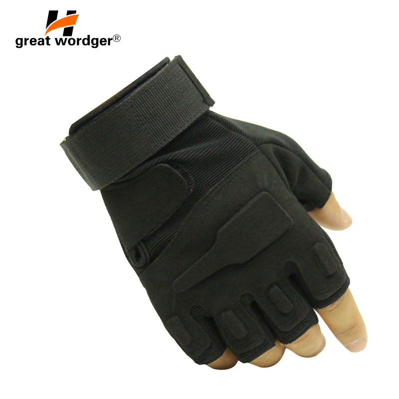 Tactical Gloves Men Fingerless Sports Gloves Antiskid Bicycle Gloves Wearable Fight Paintball Military Police Safety Gym Gloves