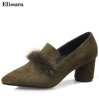 6e466d6b8 Ladies Heels 2018 Woman Med Heels Pointed Toe Pumps Shoes Women S Luxury  Genuine Leather Shoes. US $78.60. Saltos das senhoras 2018 da Mulher ...
