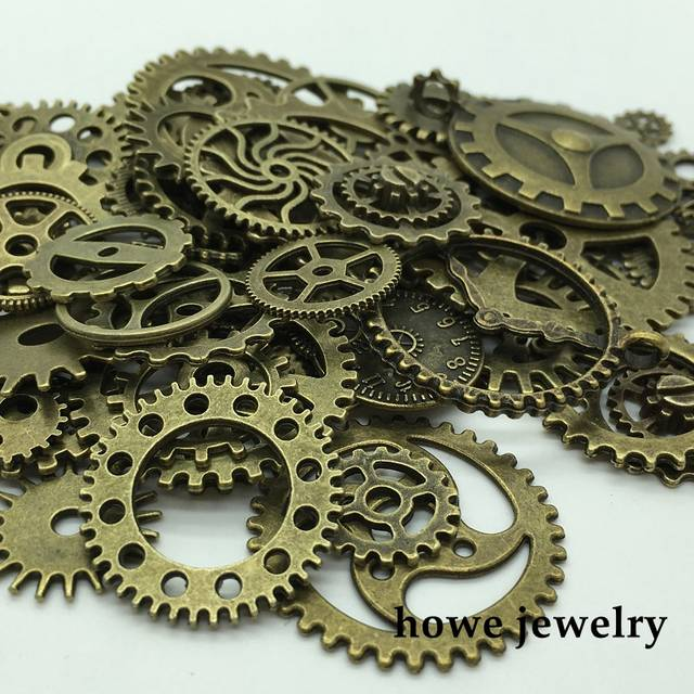 online shop mixed 100g steampunk gears and cogs clock hands jewelry