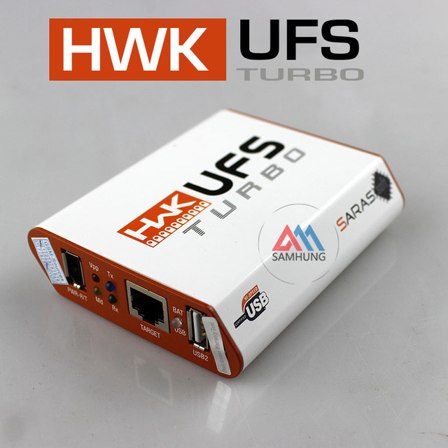 Original New steel box By SarasSoft HWK UFS Turbo Box  for Sam&NK& SonyEricsson UFST Box (Packaged with 4 cables) fast shipping