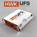 Original Nova caixa de aço Por SarasSoft UFS HWK Turbo UFST Caixa Caixa para Sam & NK & SonyEricsson (embalado com 4 cabos) transporte rápido
