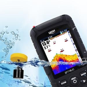 Image 2 - Localizador de peces portátil LUCKY, pantalla LCD a Color de 2,8 pulgadas, detección de profundidad de 100M, frecuencia de Sonar Dual, FF718LiCD T con cable