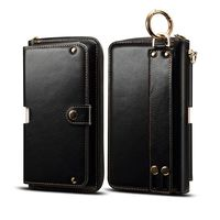 Genuine Leather Handbag Case For One Plus Oneplus 5 5T 3 3T Wallet Pouch Universal Strap Multipurpose Phone Bags Cases