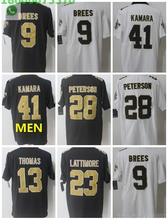 2018 Free shipping A+++ quality Mens adults Jersey Alvin Kamara 41 Drew  Brees 9 Michael Thomas 13 New Orleans 4160efe42