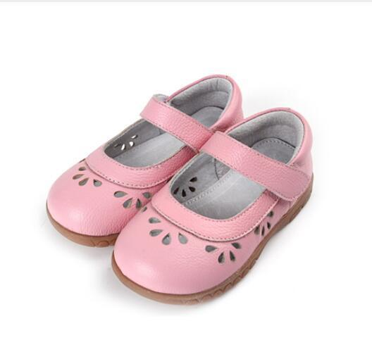 2018 Genuine leather summer children sandals hollow out soft bottom children casual shoes girls princess baby toddler shoes