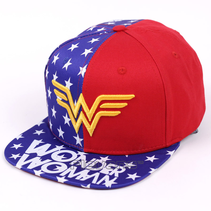 DC Heroine Wonder Woman Flat Snapback Hip-Hop Caps Hat Adult Women Men Cosplay Hat Adjustable Baseball Cap cntang brand summer lace hat cotton baseball cap for women breathable mesh girls snapback hip hop fashion female caps adjustable