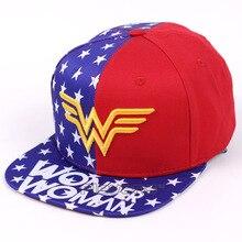 DC Heroine Wonder Woman Flat Snapback Hip-Hop Caps Hat Adult Women Men Cosplay Hat Adjustable Baseball Cap