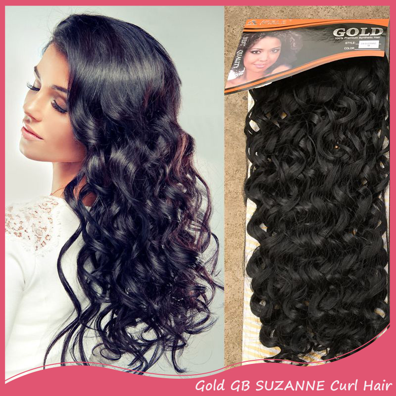 Synthetic Hair 18 150g Gold Gb Suzanne Curl Hair Extensions Curly